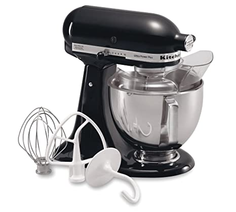 KitchenAid KSM100PSOB Ultra Power Plus Stand Mixer, Onyx Black