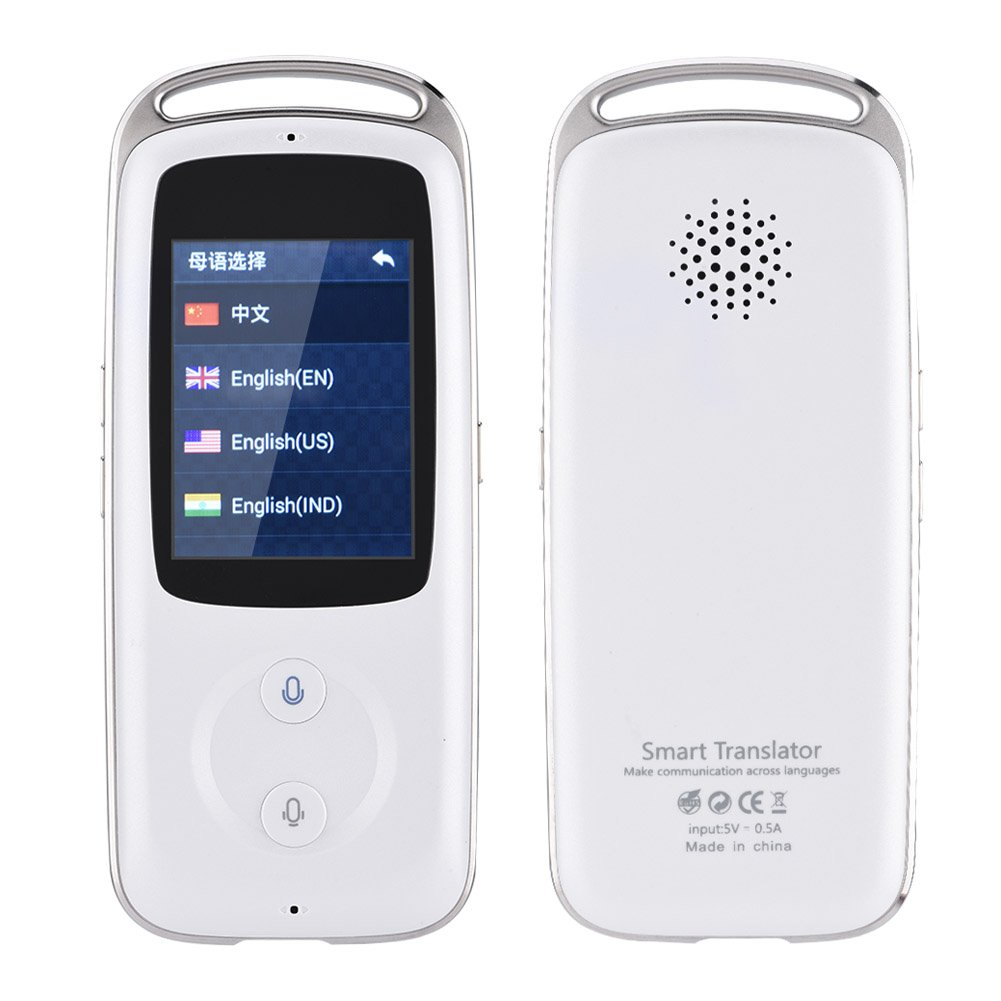 Yosoo- 2.4-inch TFT Touch Screen Handheld Small and Exquisite Smart Real Time WIFI Voice Translator 18 Languages Multilingual Travel Translator Ideal Choice for Senior Citizens (白色) by Yosoo- (Image #1)