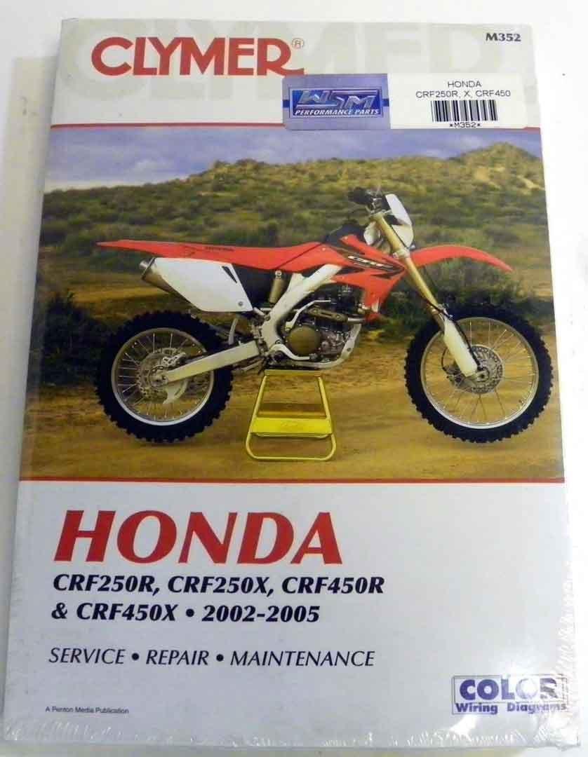 Atv Moto X Honda Clymer Manual Models Crf 250r 250x Crf250x Wiring Diagram 450r Avail5 05 Wsm M352 Automotive