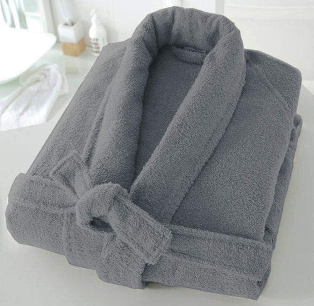 Unisexe De Luxe En Coton Égyptien Terry Tissu éponge Peignoir Robe De Chambre Serviette Doux