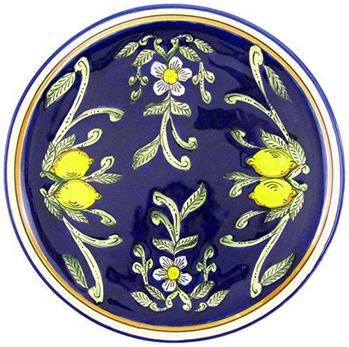 Le Souk Ceramique CQ42 Stoneware Round Platter, Citronique