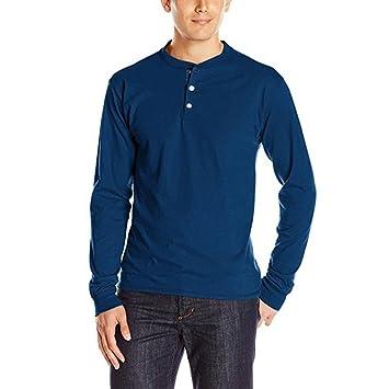 camisetas hombre manga larga, Sannysis camisetas interior de manga larga con cuello en Blusa delgada