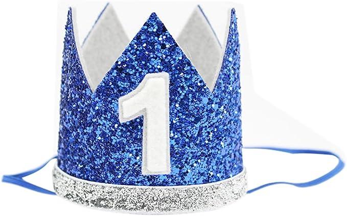 Amazon.com: Baby Boy cumpleaños corona diadema Prince gorro ...