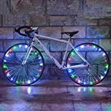 (2 Pack) Bike Wheel Light Led Waterproof for Kids Syolee Colorful Bicycle Tire Lights Ultra Bright LED Spoke Light Front and Back for Safety Warning and Decoration