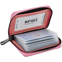 Women RFID Blocking Credit Card Holder Leather Cute Small Zipper Wallet With 22 Card Slots,Gifts for children, students…