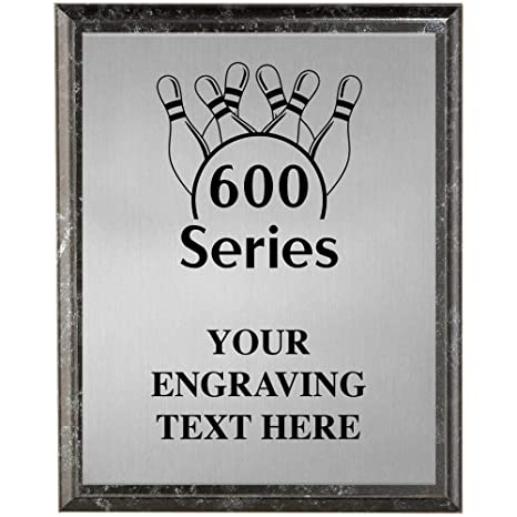 Amazon com : Crown Awards Bowling Plaques, Personalized 600