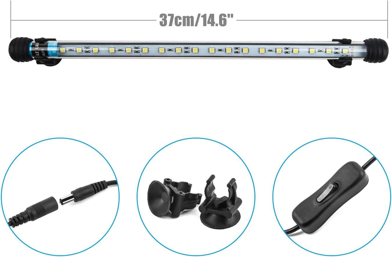ftalgs lámpara LED de luz bajo el agua Iluminación de Aufsatz Acuario Tanque protectora resistente al agua Lámpara conector EU para pescado con