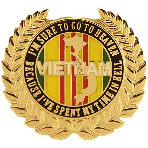 (EE, Inc. I'm Sure to Go to Heaven Vietnam Pin Military Collectibles for Men Women)