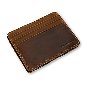ccc1d1a8f8c90 URBANHELDEN - Magic Wallet - Magischer Geldbeutel mit RFID Schutz -  Portemonnaie aus echtem Büffelleder -