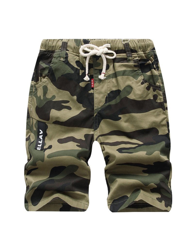 Lau's Pantaloni corti ragazzi mimetici militari pantaloncini bambini bermuda shorts