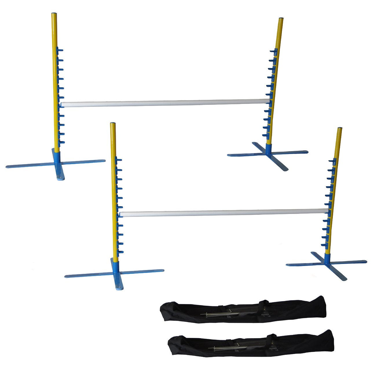 Cool Runners Set of 2, 4FT Wide Dog Agility Jumps with Carrying Case
