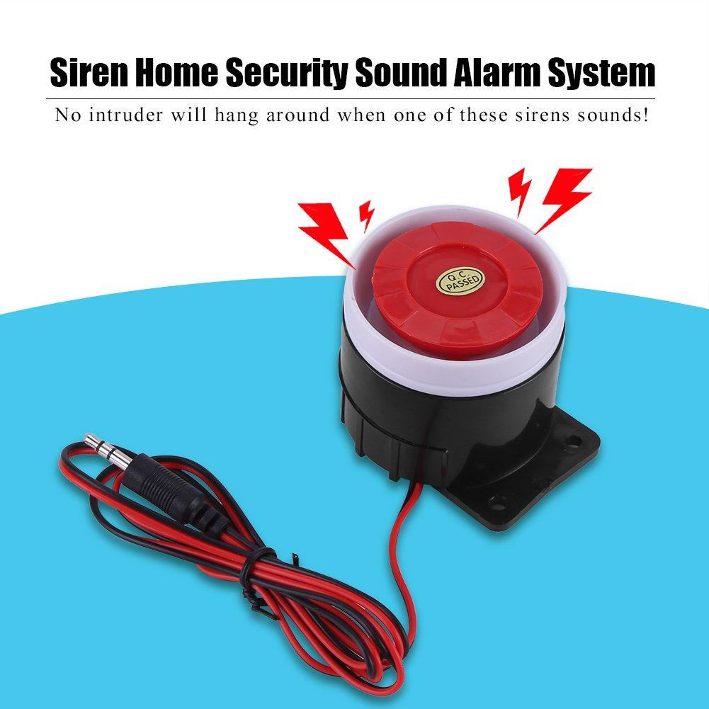 DC 12V Wired Mini Horn Siren 110 dB Home Security Sound Alarm System ...