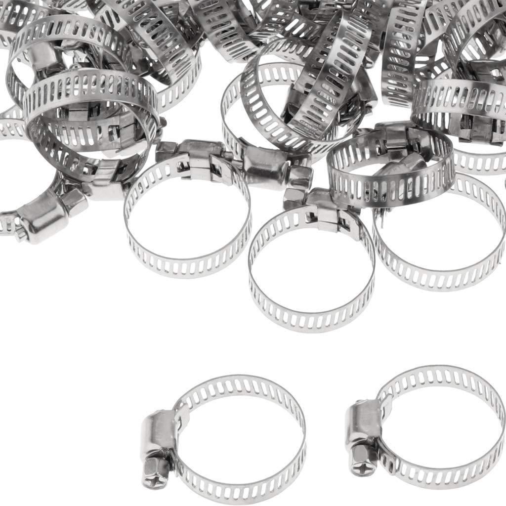 Almencla 100pcs Colliers de Serrage Multifonctions pour Tuyau Scellement 19-29mm