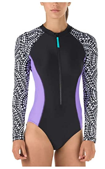 9ce6da0ef54 Speedo Womens Long Sleeve One Piece Swimsuit at Amazon Women's Clothing  store: