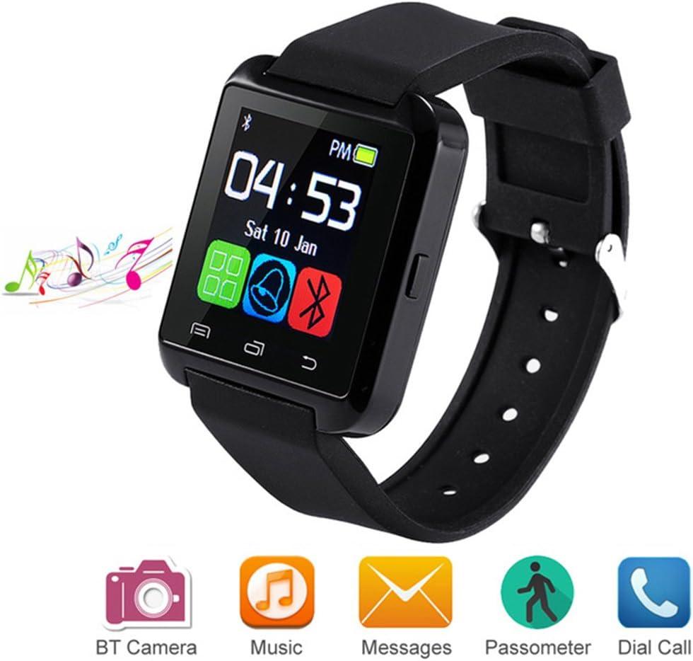 Letopro Smartwatch Bluetooth Reloj Inteligente Android iOS, Smart Watch Teléfono Inteligente De Pulsera con Pódometro/Contador de Calorias, Fitness Tracker para ios android phone(Negro)