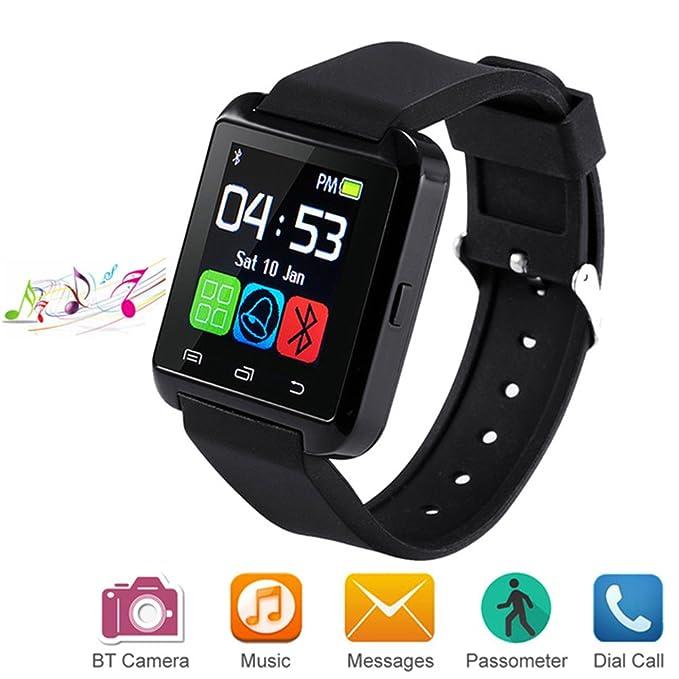 Letopro Smartwatch Bluetooth Reloj Inteligente Android iOS, Smart Watch Teléfono Inteligente De Pulsera con Pódometro/Contador de Calorias, Fitness ...