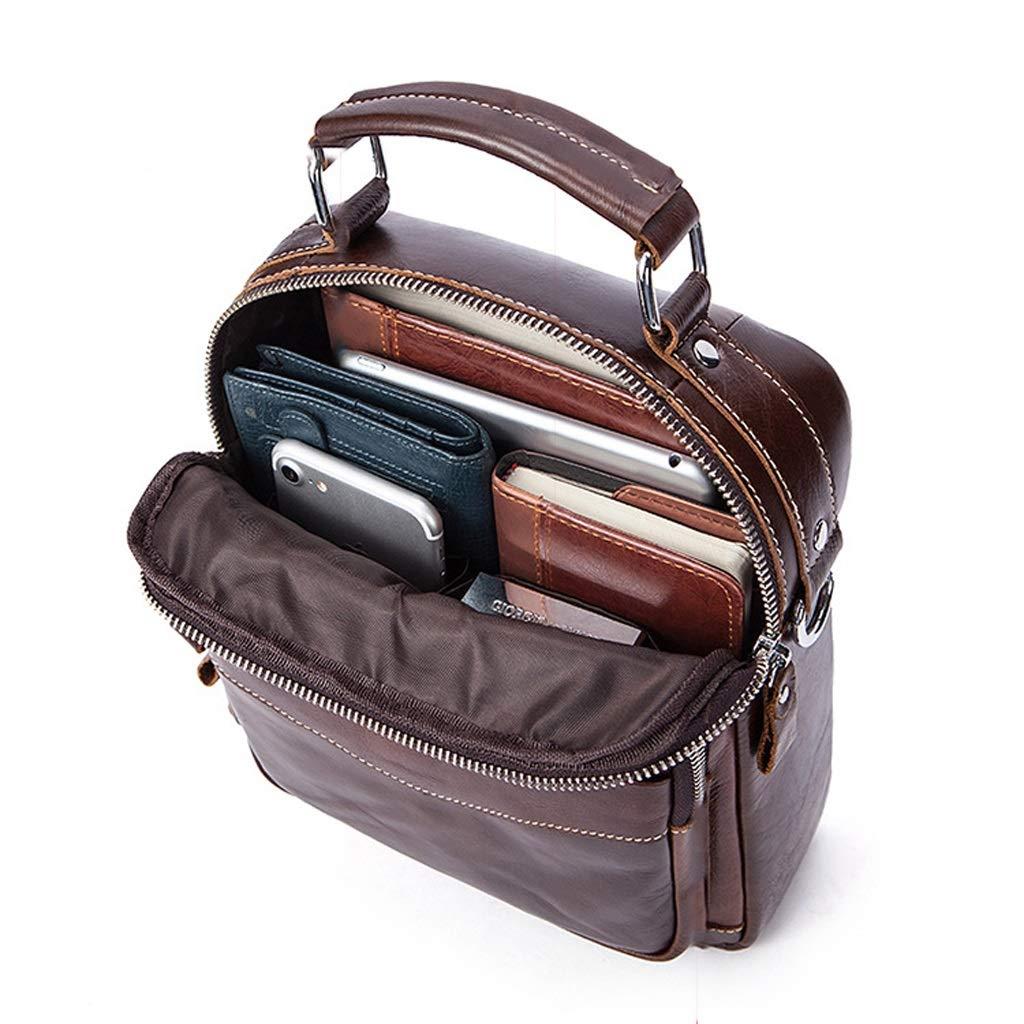 Mens Shoulder Messenger Bag Vertical Multi-Pocket Business Casual Bag 7.872.559.05 Inch LWH)