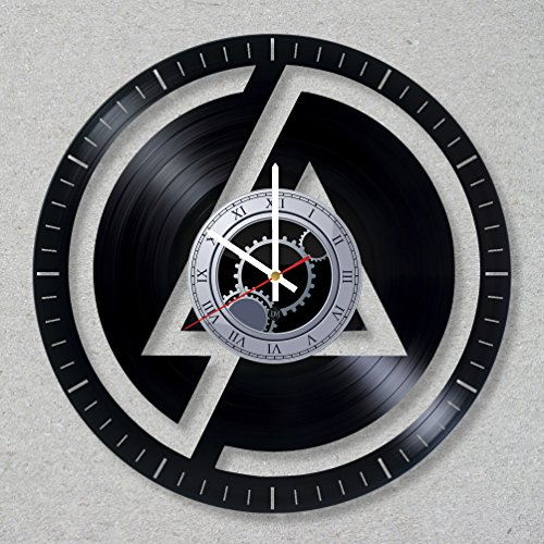 Bennington Clock (Vinyl Record Wall Clock Linkin Bennington Park Music Rock Band Numb Chester decor unique gift ideas for friends him her boys girls World Art Design)