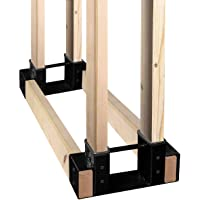SnugNiture Firewood Log Storage Rack Bracket Kit with Screws, Fireplace Wood Storage Holder. Powder Coated Heavy Duty…