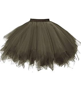 91d70c52e7 Dresstore Women's Short Vintage Petticoat Skirt Ballet Bubble Tutu  Multi-Colored