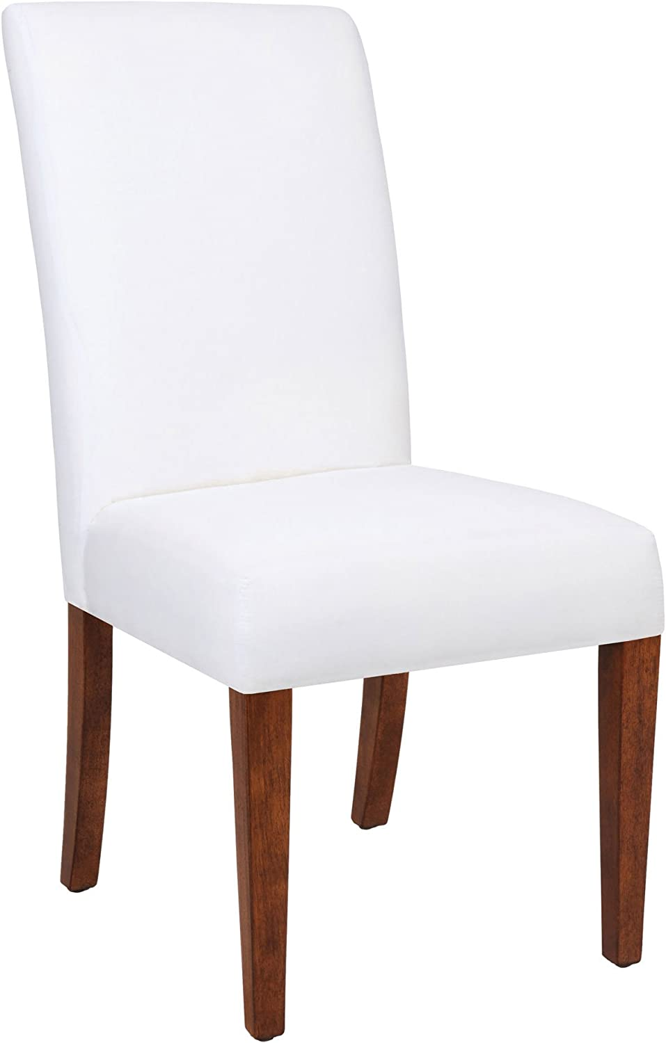 Sterling Couture Covers Plantation Grown Hardwoods/Imported Fabric Silhouette Parsons Chair, 40-Inch, Cherry