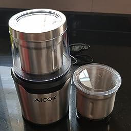 Aicok Molinillo de Café, Eléctricos para Especias y Molinillo de ...