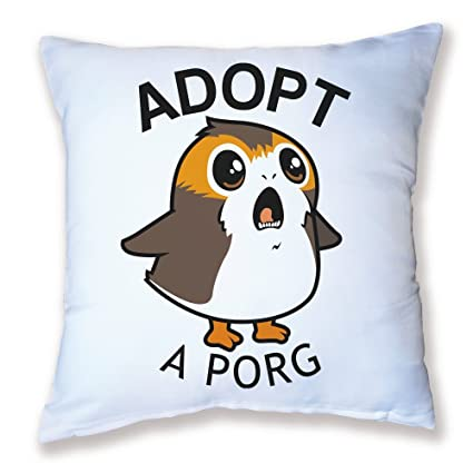 Pouny Pouny Cojín Decoración Adopt A porg – Chibi y Kawaii (Star Wars) –