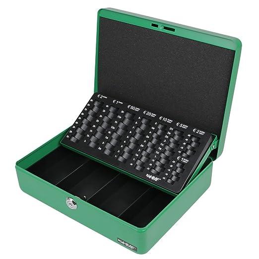 72 opinioni per HMF 10015-06 Cassetta Portavalori con Vassoio Porta Monete e Banconote 30 x 24 x