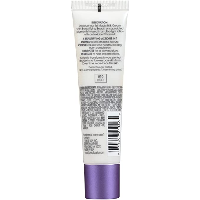 LOreal Paris Magic Skin Beautifier BB Cream, Light, 1.0 Fluid Ounce by LOreal Paris: Amazon.es: Salud y cuidado personal
