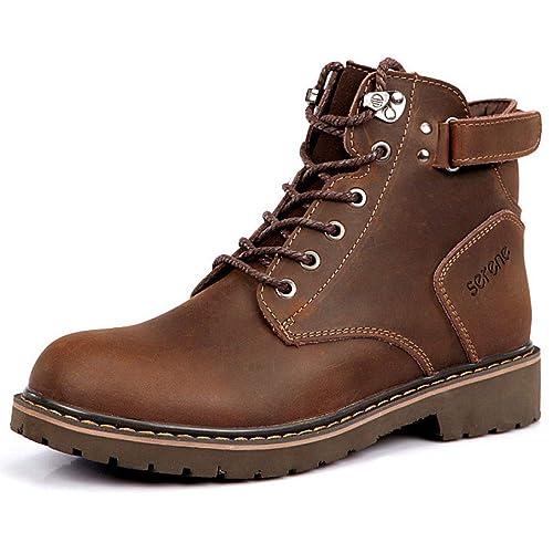 Botas Martin De Cuero Botines Casuales De Chukka Botines De Táctica Militar Botas Botines De Nieve Ayuda Alta Botas De Trabajo Zapatos con Cordones: ...