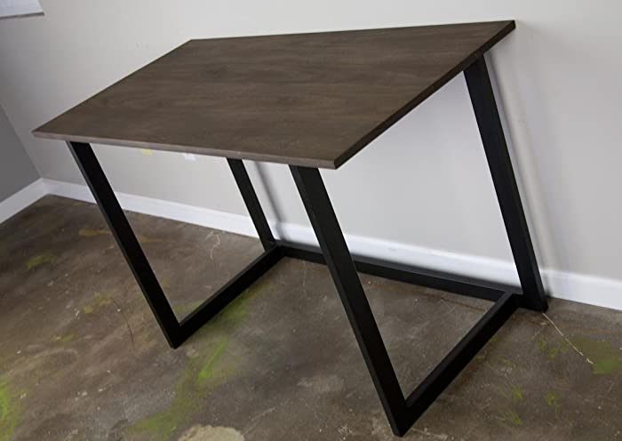 Wood Top Desk Reclaimed Avail Minimalist Design Home Office Table