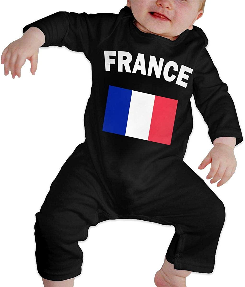 Baby Girls Romper Jumpsuit France Flag-1 Organic One-Piece Kid Pajamas Clothes