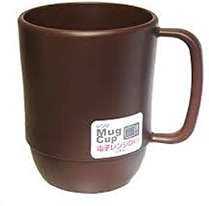 JapanBargain 3092, Japanese Microwavable Water Mug Unbreakable Milk Juice Mug for Kids Camping Travel Water Tea Mug 12 ounce BPA Free Non Toxic Dishwasher Safe Made in Japan, Chocolate