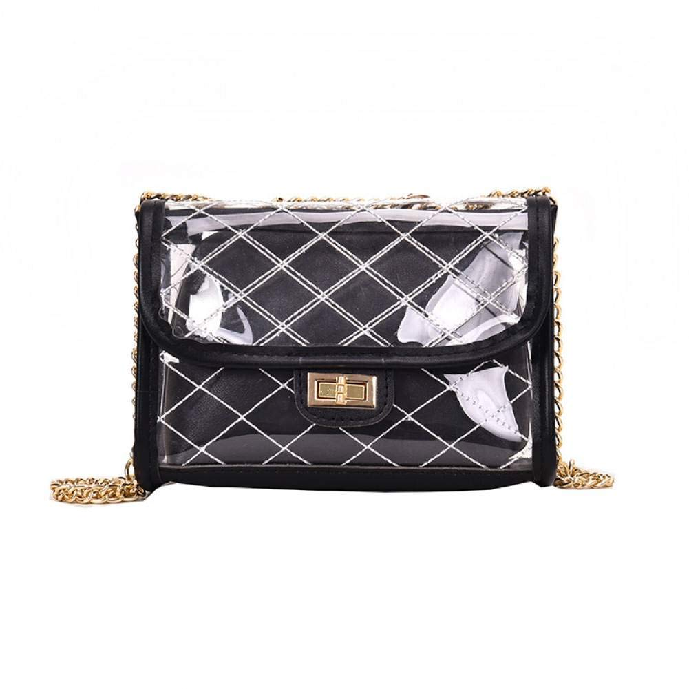 BAOBAOTIAN Fashion Wild Transparent Bag Female New Korean Version of The Small Fresh Rhombic Chain Messenger Bag Small Square Bag
