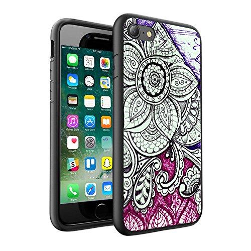 iPhone X Hülle, einzigartige Custom Design Prodective harte zurück dünner dünner Fit PC Bumper Case Kratzfeste Abdeckung für iPhone X - Mandala 0042