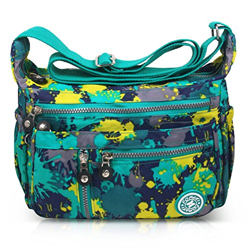 Messenger 4 Anti ABLE Splash green Shoulder Camouflage Women Bags Water Crossbody TXwRqFwB