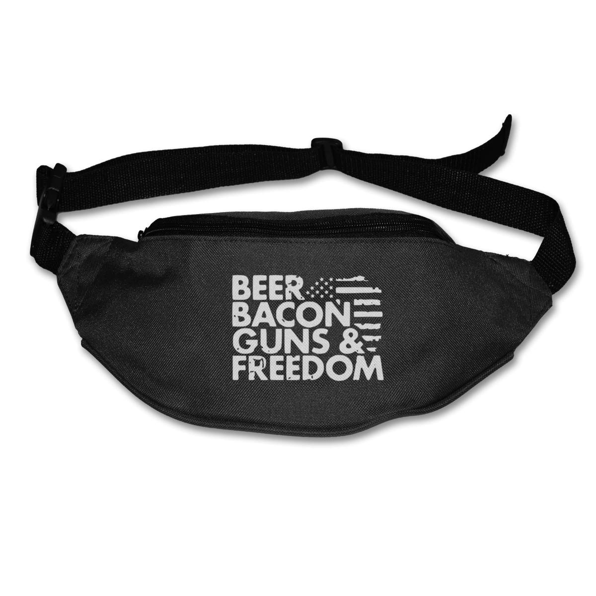 Beer Bacon Guns /& Freedom Sport Waist Bag Fanny Pack Adjustable For Travel