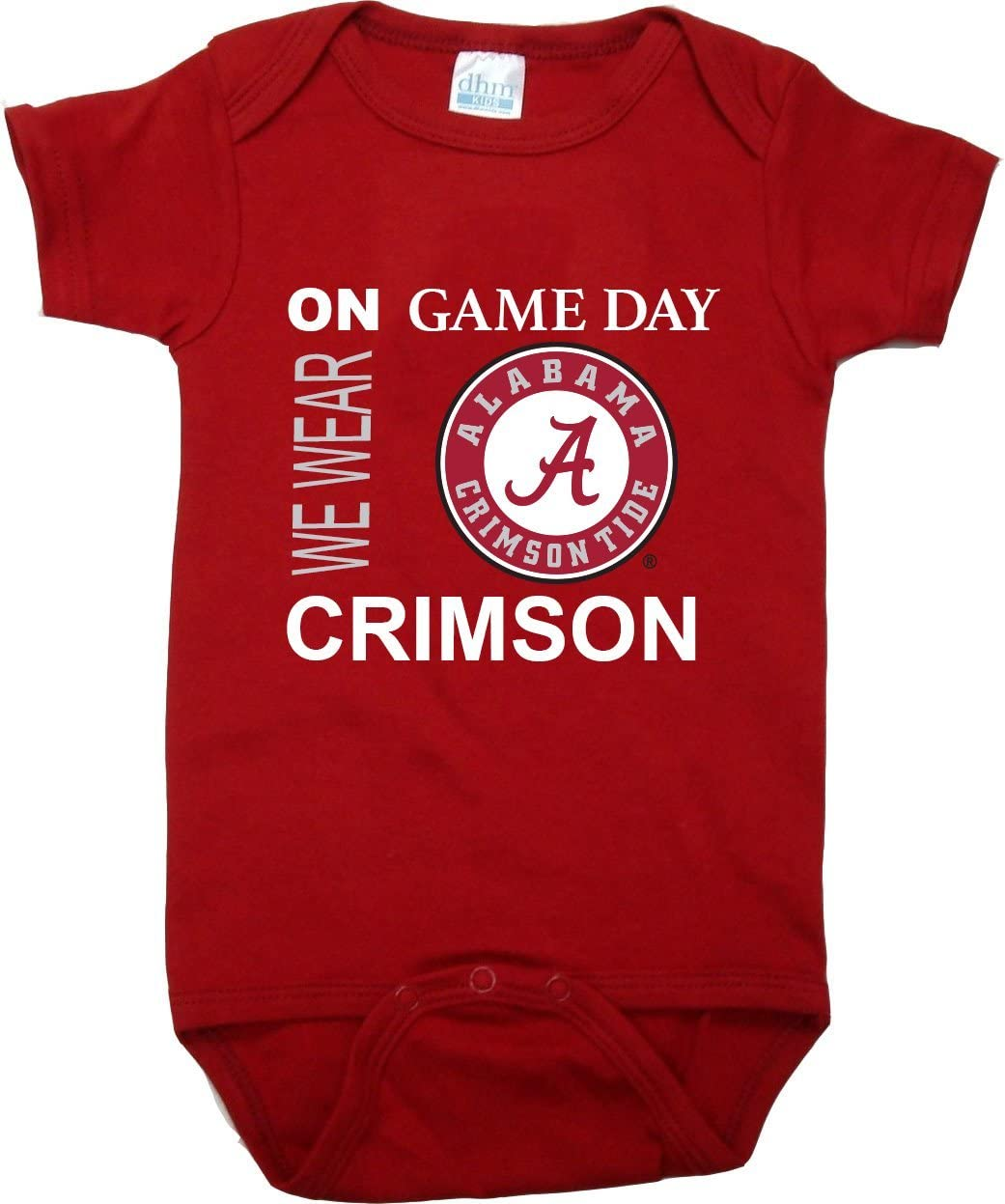Alabama Crimson Tide On Game Day Baby Bodysuit