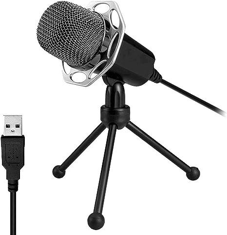 USB 360 ° einstellbares Mikrofon Voice-Chat-Aufnahmemikrofon für PC Mac ER