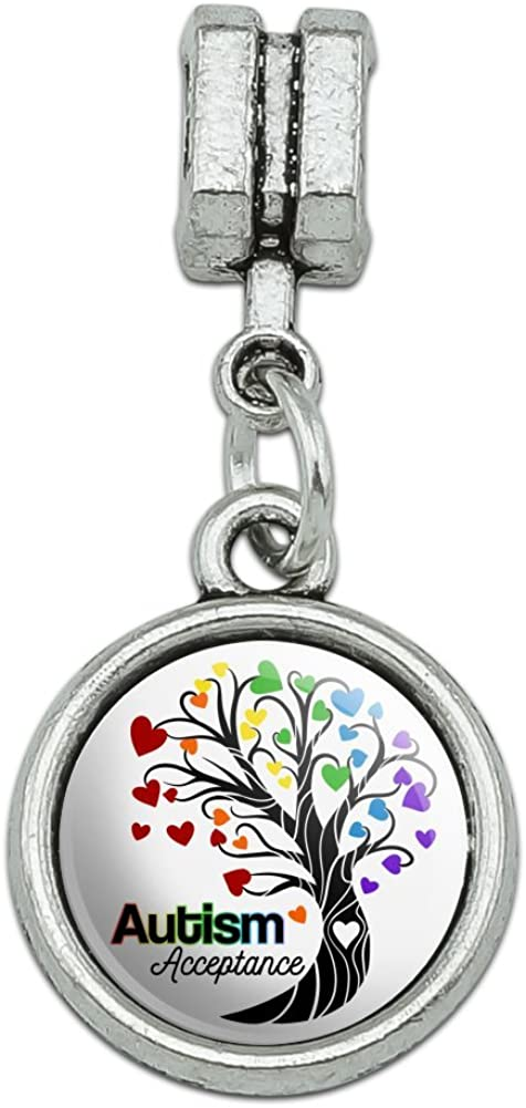 GRAPHICS /& MORE Autism Acceptance Tree of Life with Hearts Italian European Style Bracelet Charm Bead