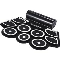 ammoon Portátil Electrónico Rollo Up Tambor Juego de Pastillas 9 Almohadillas de Silicona Altavoces Incorporados con los…