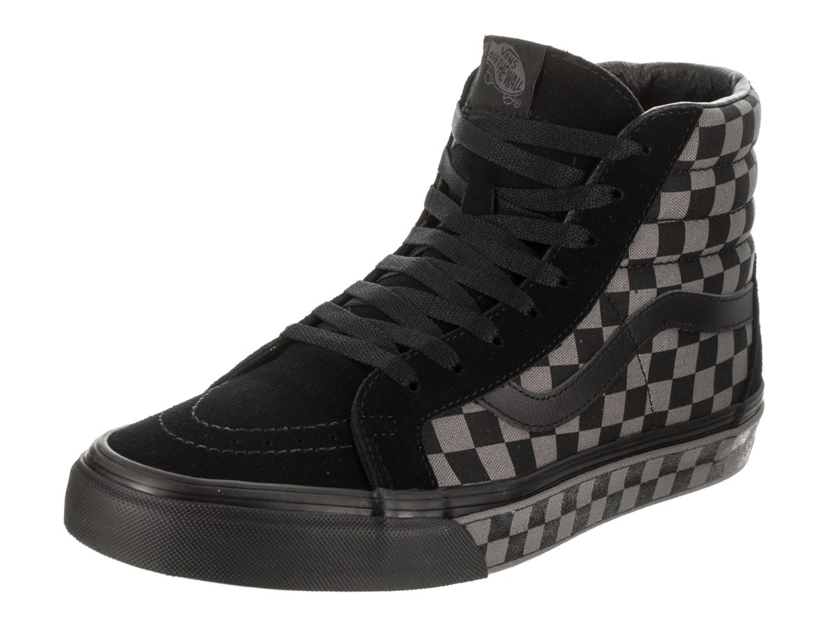 VANS MENS SK8 HI REISSUE LEATHER SHOES B06Y5KTMGK 14.5 B(M) US Women / 13 D(M) US Men|Checkerboard Black Pewter