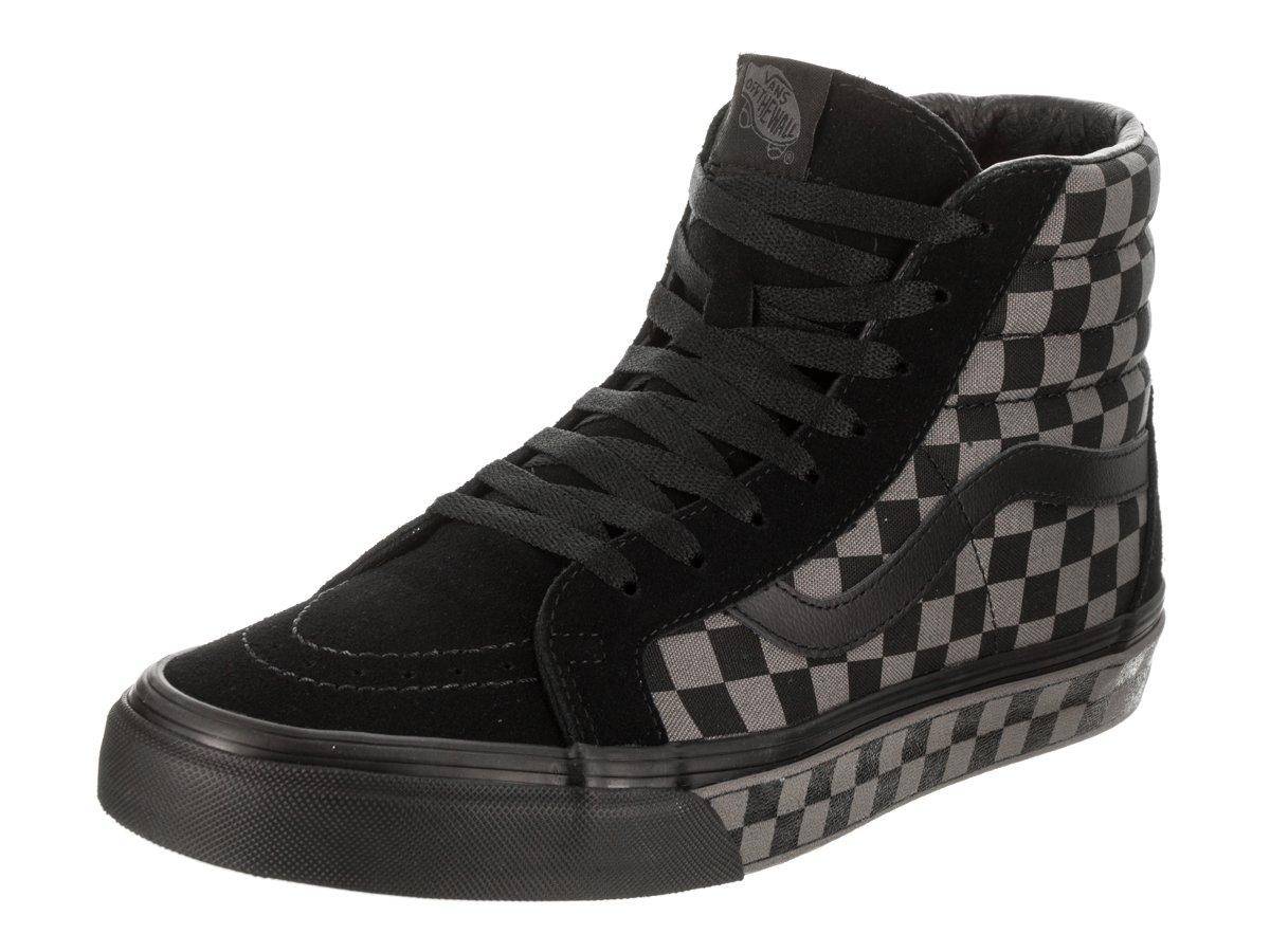 4c18116940d8 Galleon - Vans Unisex Sk8-Hi Reissue (Denim C L) Black Pewter Checkerboard  Skate Shoe 11 Men US