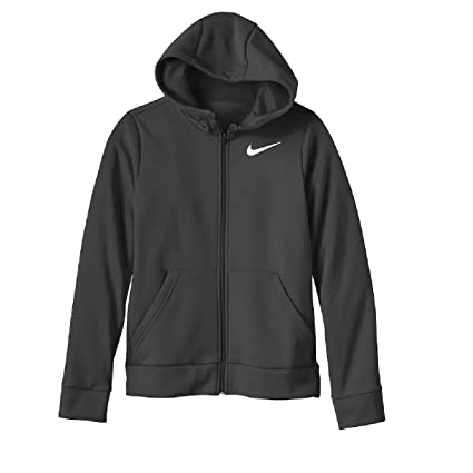 750c6c74bde28 Nike Girls 7-16 Therma Fleece-Lined Training Hoodie (Black White, Small