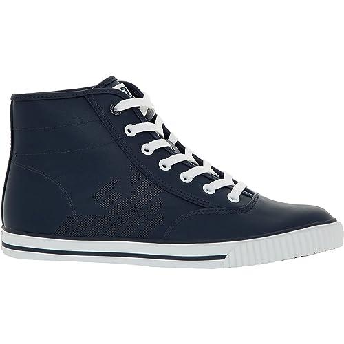Emporio Armani - Zapatillas de Material Sintético para Hombre, Color Azul, Talla 43