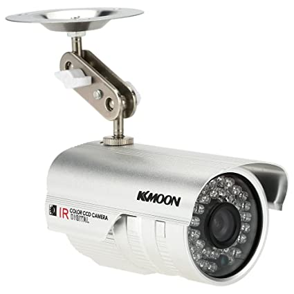 "KKmoon 1200TVL Cámara de Vigilancia Bala HD CCTV Exterior Visión Nocturna Impermeable 1/3"""