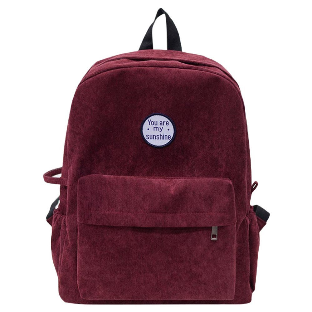 Amazon.com | Women Girls Preppy Corduroy Shoulder Bookbags School Travel Backpack Bag | Kids Backpacks