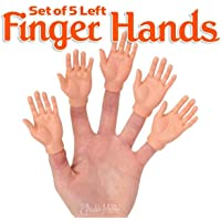 Accoutrements Set of Five Rubber Finger Hands in Box
