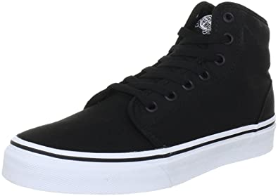2d31db879f2c53 Vans Unisex 106 Hi Black True White Skate Shoe (3.5)