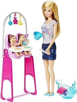 Amazon.es: Barbie - Muñeca Baby Sitter (Clementoni CKJ22): Juguetes y juegos